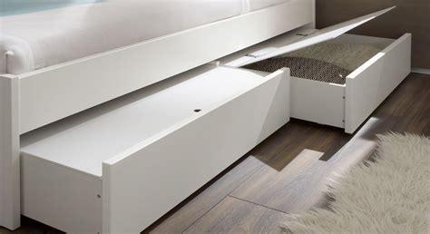 schubkästen bett einzelbett in z b 100x200 cm mit schubladen in wei 223 mocuba