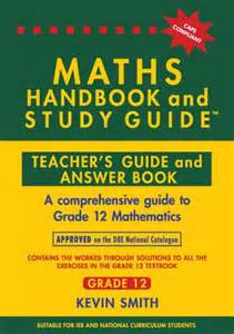 the maths handbook and study guide grade 12 answer book