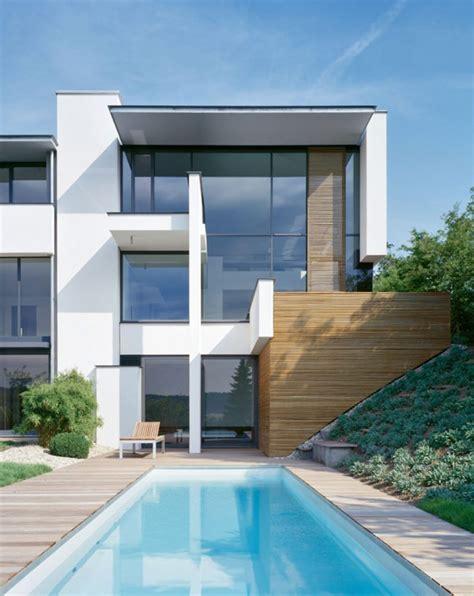 modern villas two modern villas hidden by a single facade miki 1 house