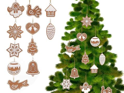 christmas decoration gingerbreads set of 11 decorations