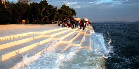 croatia sea organ harmonic music from wind and sea through the sea organ in