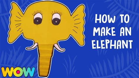 How To Make A Elephant Out Of Paper - how to make elephant paper plate masks paper