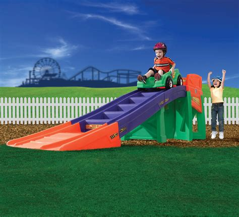 kid roller coaster in backyard step 2 extreme coaster toys games outdoor toys
