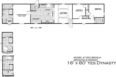2 Bedroom 1 Bath Mobile Home Floor Plans by Clayton Yes Series Mobile Homes 1st Choice Home Centers