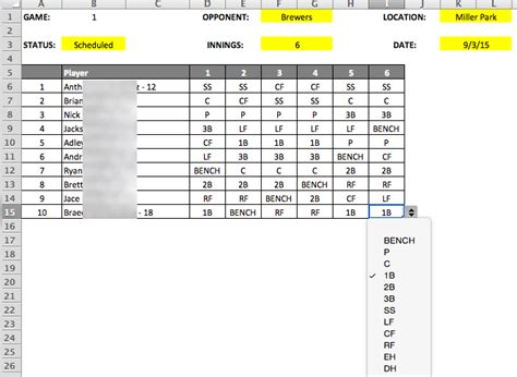 search results for baseball lineup template calendar 2015
