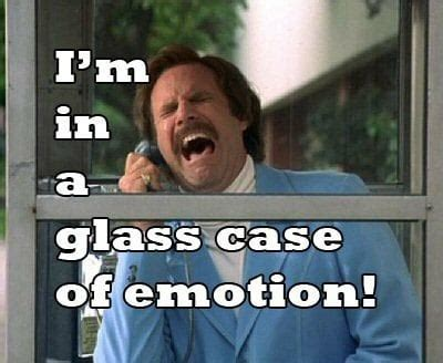 Glass Case Of Emotion Meme - becoming more expressive with your singing the naked