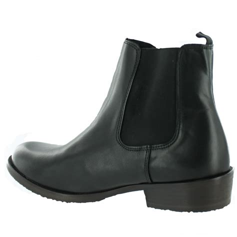 marta jonsson mens slip on ankle boot j4562l s black