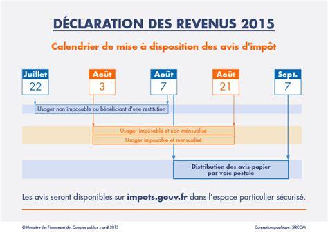 Declaration Is Calendrier Imp 244 T Sur Les Revenus 2015 Le Portail Des Minist 232 Res