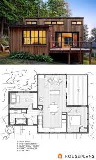 Modern Cabin Floor Plans Small Contemporary Cottage House Plans Contemporary Home