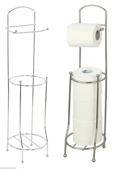 chrome toilet paper holder bathroom tissue roll storage