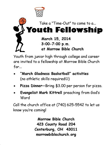 Invitation Letter For Youth Fellowship Youth Fellowship March 15 2014 Morrow Bible Church