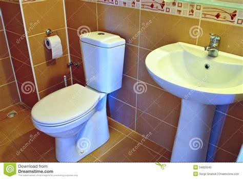 plumbing bathroom supplies modern hand basin and toilet stock photo image 34820040