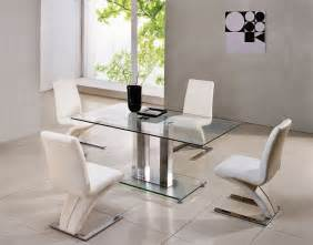 Savio Small Rectangular Glass Chrome Dining Table Only 4 Black Glass Dining Table And Chairs Ebay