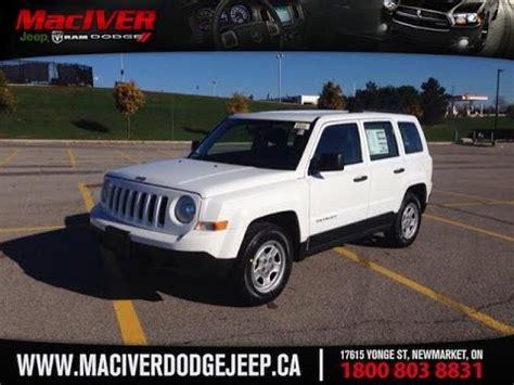dodge jeep white 2015 white jeep patriot sport newmarket ontario maciver