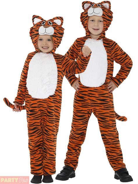 cat themed clothing uk childrens tiger costume boys girls jungle animal fancy