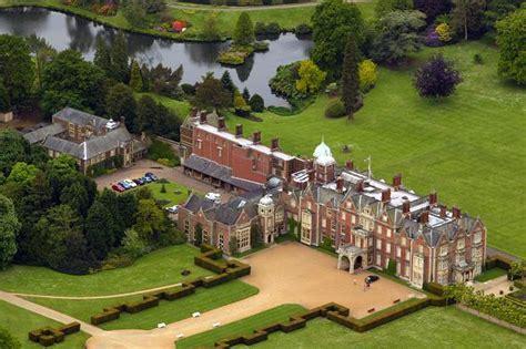 sandringham estate in norfolk aerial view of the queens sandringham estate norfolk