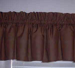 Chocolate Curtains With Valance Solid Chocolate Brown Valance Curtain Window Treatment 58 Inches Wide Custom Rod Pocket Free