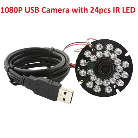 Cmos Led Bohlam Lu Led 1 1080p hd mini cmos ov2710 ir led board usb module with 3 6mm lens for android linux