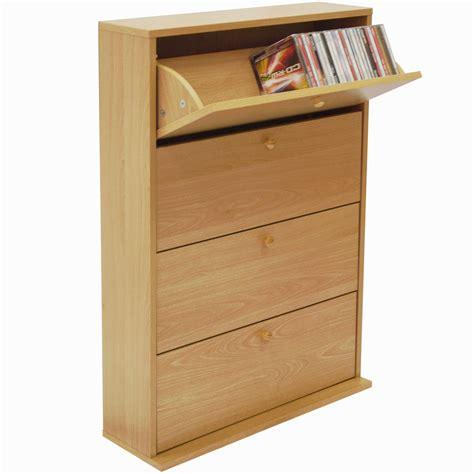 Cd Storage Cupboard - cd 200 200 cd storage cupboard tilting 4 drawer beech