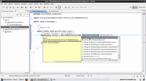 spring factory pattern xml exle spring tutorial 04 writing code using the bean factory