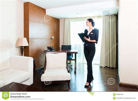 Executive Housekeeper by Asian Executive Housekeeper Controlling Hotel Room Royalty Free Stock Image Image 36566196