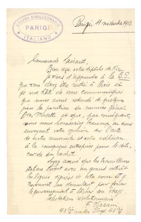 lettere francese archivio documenti settimana rossa