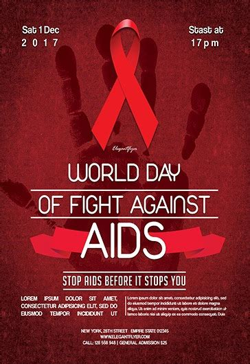 aids template world day of fight against aids flyer psd template by