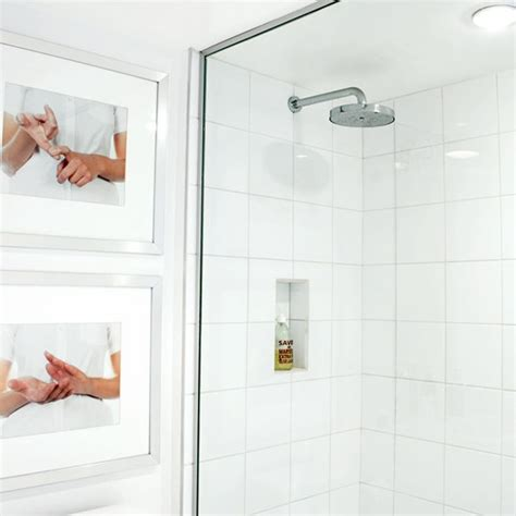 white shower all white shower room shower rooms housetohome co uk