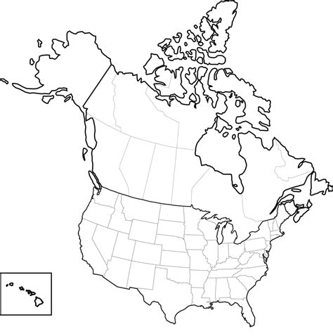 blank physical map of usa and canada united states and canada map dakota studies