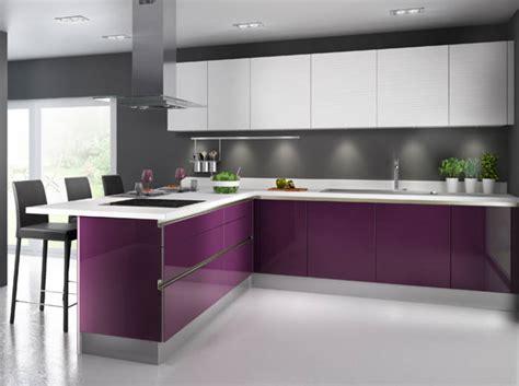 cuisine grise et aubergine beautiful cuisines ultra colores dcoration ud cuisine