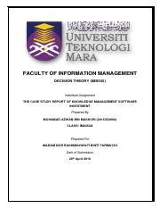 format assignment ctu informatio ims 555 decision theory universiti