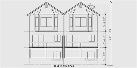 duplex row house floor plans duplex house plans 3 level row house plans d 405