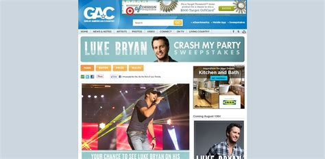 Gactv Sweepstakes - gac s luke bryan crash my party sweepstakes