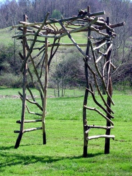Wedding Arch Made Of Sticks by Diy Arbors And Trellises Woodworking Projects Plans