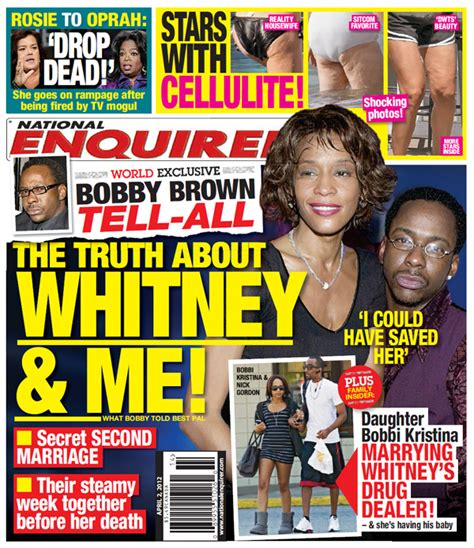 upclose national enquirer whitney houston photo in bobby brown sues national enquirer over story he was to