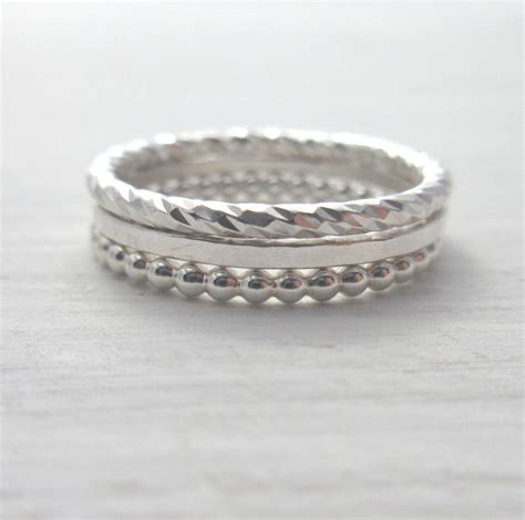 design your own ring create your own silver stacking ring set by marion made