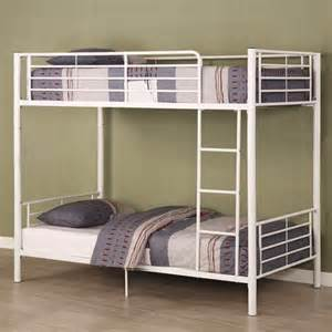 White Metal Bunk Beds Metal Bunk Bed White