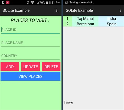 sqlite android android sqlite database exle parallelcodes