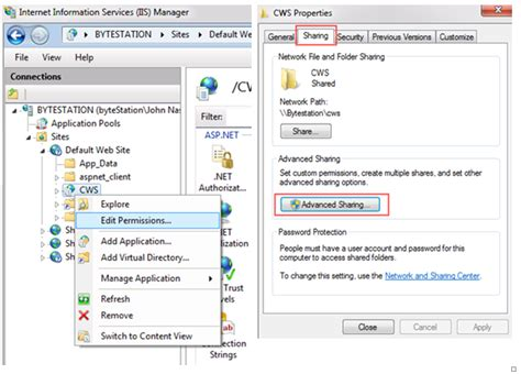 right networks help desk how do i configure customer web service cws on iis 7