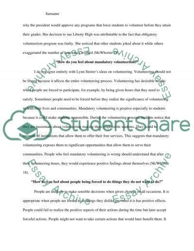 Volunteerism Essay by Free Volunteerism Essay Lawwustl Web Fc2