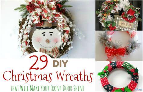 diy christmas wreaths     front door