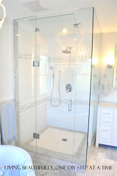 Marble Shower Jambs by Living Beautifully One Diy Step At A Time April 2012