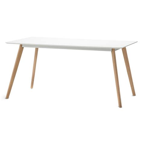 Scandi Dining Table White Scandi Dining Table Set With 4 White Replica Eames Chairs Temple Webster