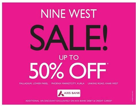 printable nine west outlet coupons nine west mumbai shoes and handbags deals discounts offers