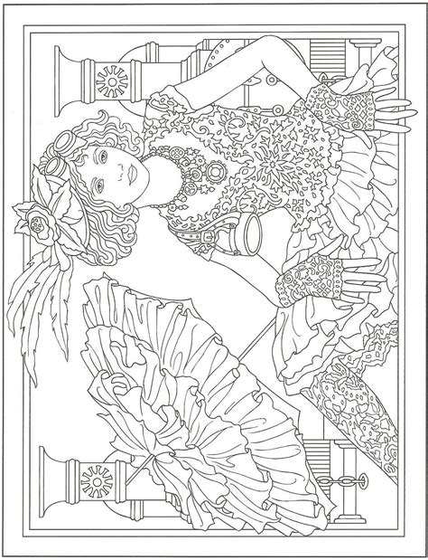 dover publications coloring books steunk artwork by marty noble from creative