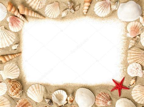 cornici conchiglie cornice di conchiglie di mare foto stock 169 vir4ello