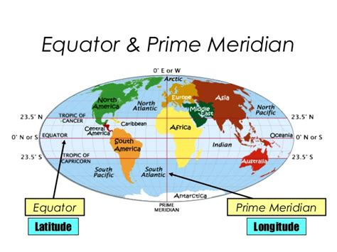 diagram of the equator blank world map with equator and prime meridian images