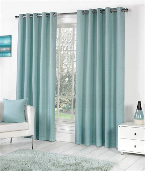blue lined curtains bedroom sorbonne plain dyed heavy cotton eyelet ring top lined