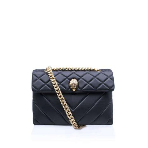 leather kensington bag black shoulder bag by kurt geiger