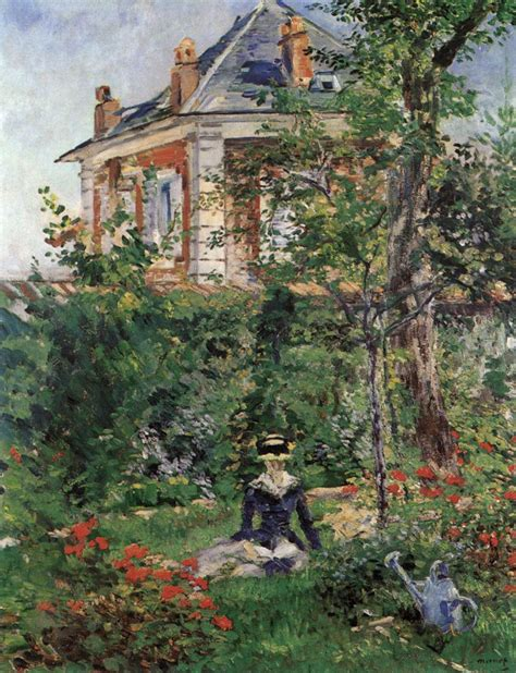 In The Garden by In The Garden At Bellevue By Manet Edouard